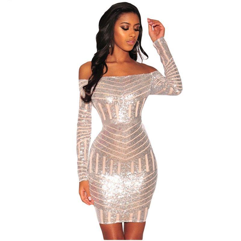 Women Off Shoulder Dress Long Sleeve Mini Dress Party Dress IEason Women Dress