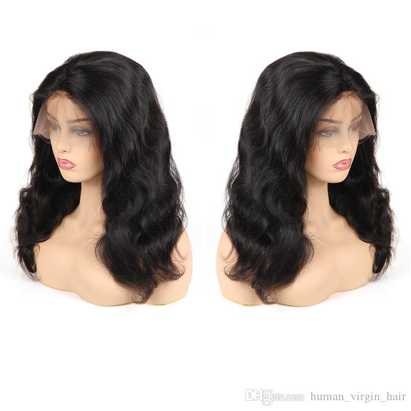 Cheap 8A Human Hair Full Lace Wigs Body Wave Unprocessed Brazilian Virgin Hair Full Lace Wig Remy Peruvian Hair Vendors Fast Shipping