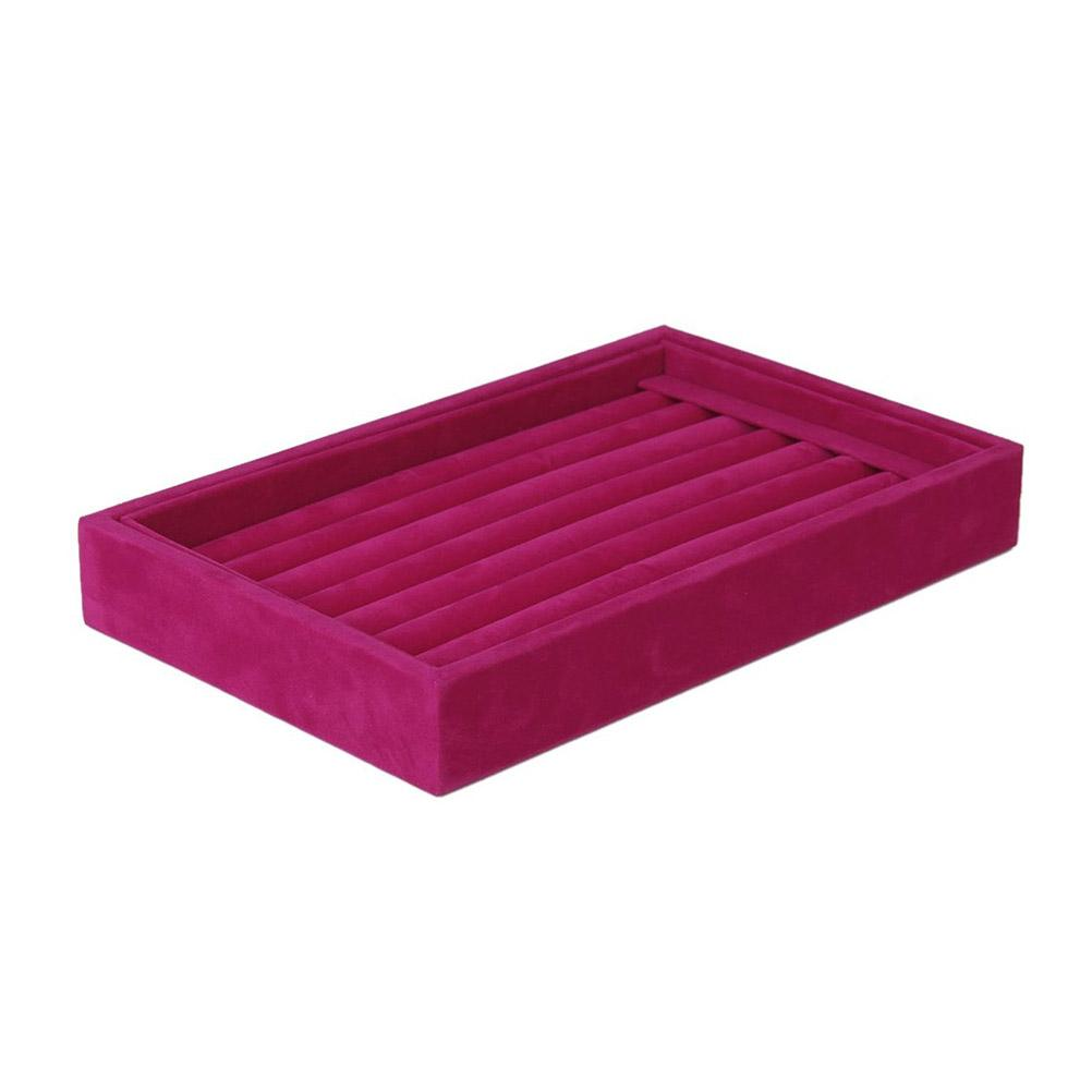 8-Grid Jewelry Display Tray Organizer Storage Box Tray Holder Stand Show Case Portable Accessories