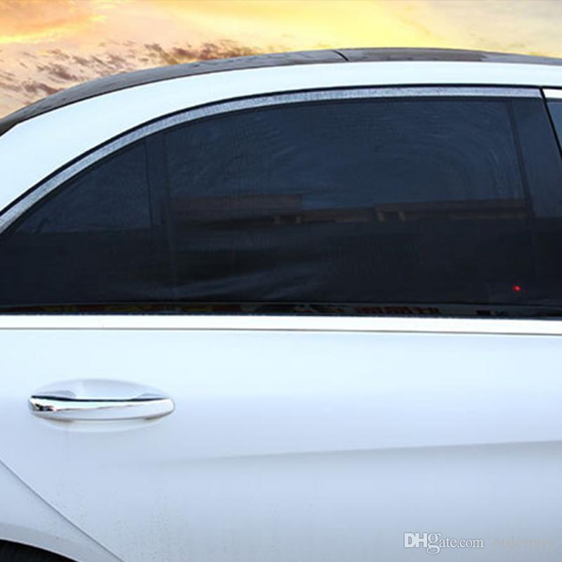 2018 2 قطع شبكة ظلة غطاء جديد نافذة جانبية سيارة الشمس الظل شبكة غطاء قناع درع ظلة uv حماية