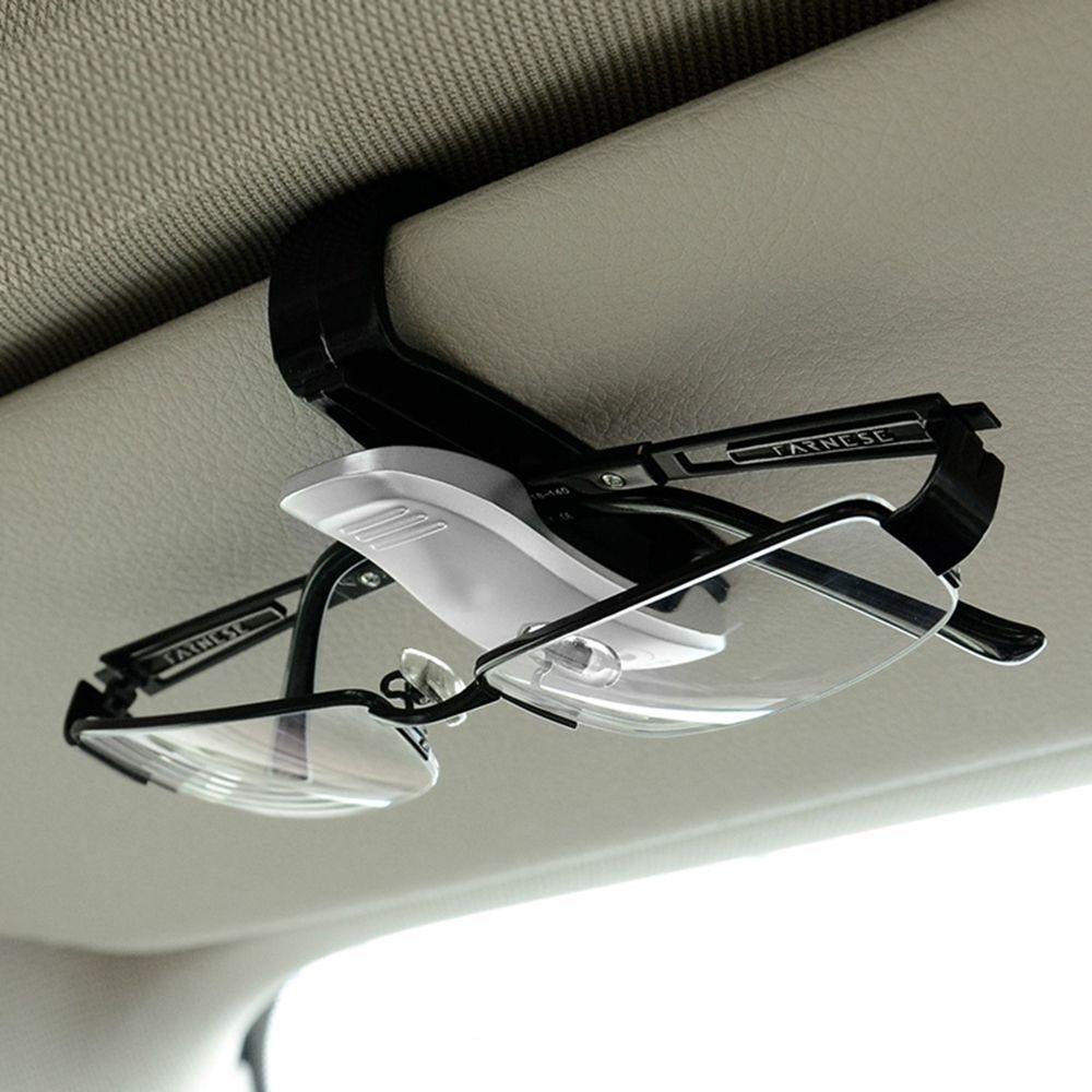 Eyeglasses Clip Car Sun Visor Sunglasses Holder Car Glasses Cases Fastener Cip Portable Ticket Card Clamp Car Styling ABS