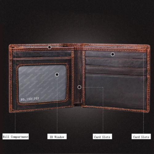 davvero comodo così economico grande collezione Acquista Portafogli Da Uomo In Pelle Marrone Bifold Uomo A $10.16 Dal  Growthlonger | DHgate.Com