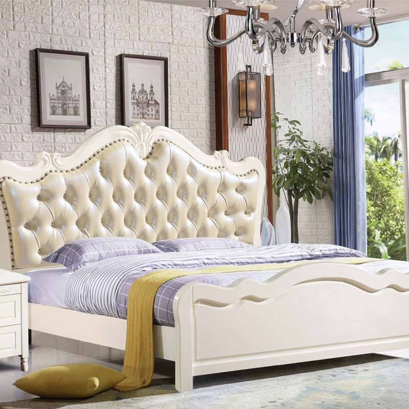 2019 American Style Large French Bed Solid Wood Modern Minimalist White  Bedroom Bed Master Bedroom Furniture Double 1.8m Bed From Sijixianjiaju, ...