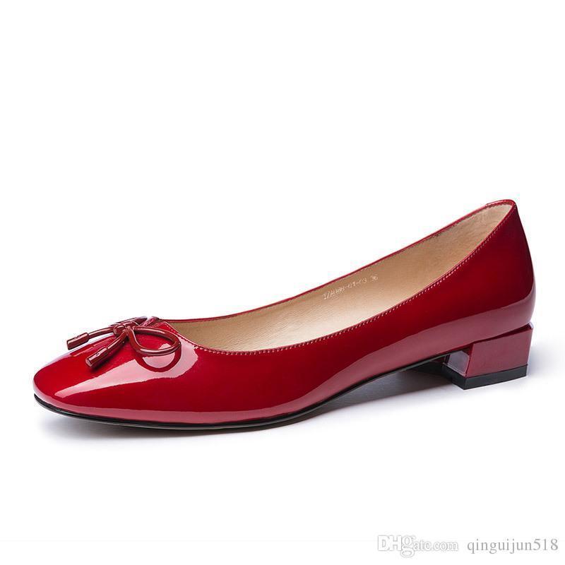 간단한 작업 신발 여성에게 낮은 활 거친 도움을 하나의 신발에 가죽 작업 아사 쿠치 신발 낮은
