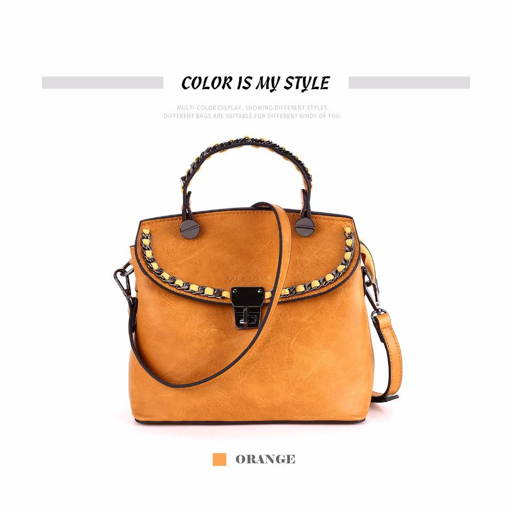 fe7f3a646b4a Musaa Vintage Sling Crossbody Shoulder Handbag Fashion Solid Orange Cover  Women Messenger Small Bags Pu Leather Wholesale Bags Over The Shoulder Bags  ...