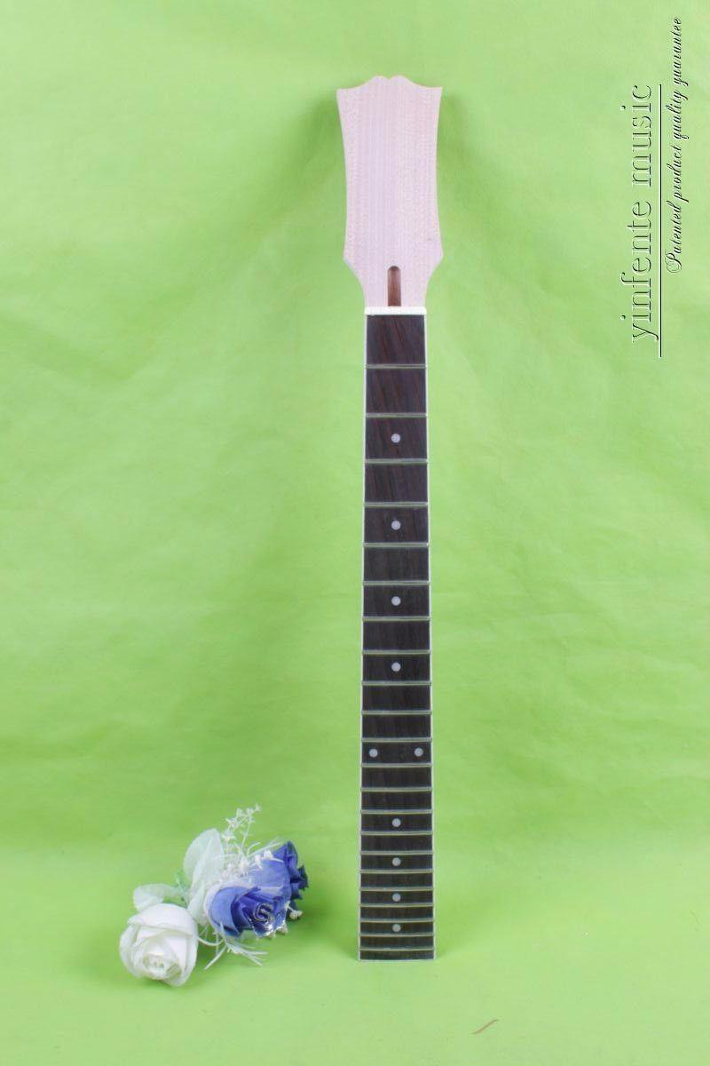Repuesto mástil de caoba para guitarra eléctrica 22 trastes diapasón de ébano para guitarra Lp