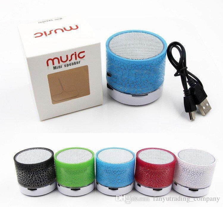 2018 A9 Mini Bluetooth Car Speaker LED Hands Free TF Card USB Super Bass Loudspeaker Car audio Portable Stereo MP3 Music Player DHL