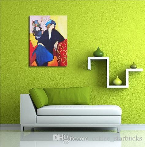 Compagni Itzchak Tarkay Donne Lady Cafe Ritratti d'arte dipinte a mano / HD Stampa di arte della parete della pittura a olio su tela di canapa Multi Taglie It77