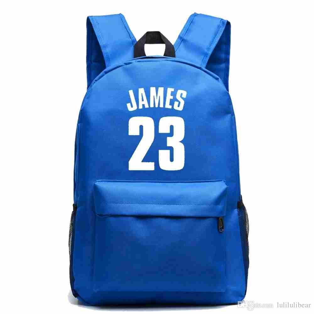 وصول جديد جيمس قماش النساء البنات حقيبة الظهر كرة السلة المراهقين حقيبة الظهر طالب حقيبة مدرسية للبنين للرجال UPOJW