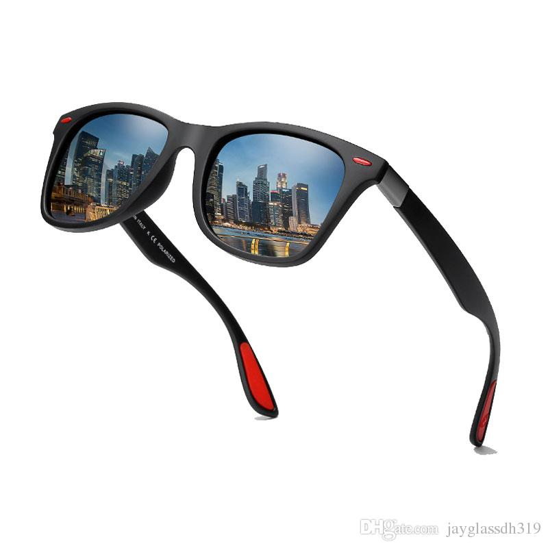 Новое прибытие Классические поляризованные очки Мужчины Женщины Driving площади Brand Design Рама ВС Очки Мужской Goggle UV400 Gafas De Sol