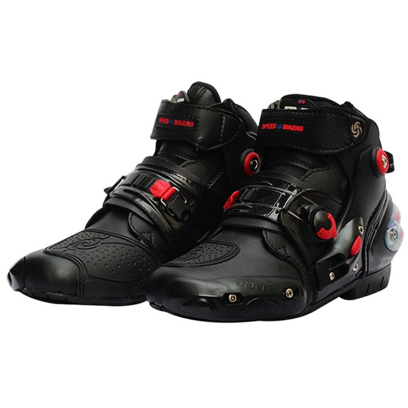 Riding Tribe Motorcycle Ankle Boots Anti-skid Racing Protective Shoes Motocross Motobike Off-Road Moto Boot Foot Protector A9001