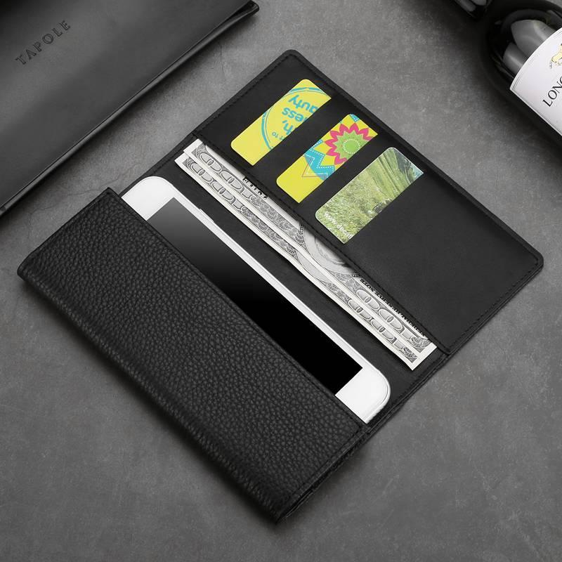 Pochette en cuir véritable pour Iphone XS pour XS Max Bag MAKEULIKE Étui universel à main pour Iphone XR Portefeuille Poche