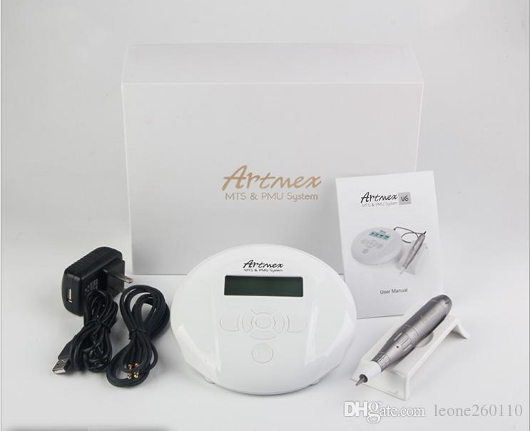2019 Vente chaude plus récent PMU + MTS machine de maquillage permanent V6 dermapen électrique stylo à sourcils numérique machine de tatouage