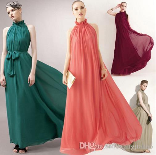 Bayan Giyim için Elbiseler 2018 Yaz Yeni Şifon Elbise Kore Moda Omuz Dikey Kolsuz Paspas Elbise