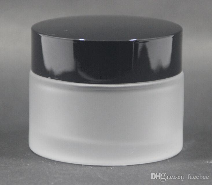 50ml vasetti di crema brina, vasi di vetro smerigliato, bottiglie crema per la pelle, contenitori cosmetici