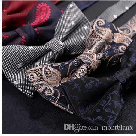 SHENNAIWEI Venta de alta calidad Formal comercial boda mariposa corbata bowtie matrimonio masculino pajaritas para hombres negocio lote
