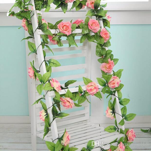 2m Künstliche Blumen Reben Girlande Rebe Rattan Hängend Hochzeit Dekor Set