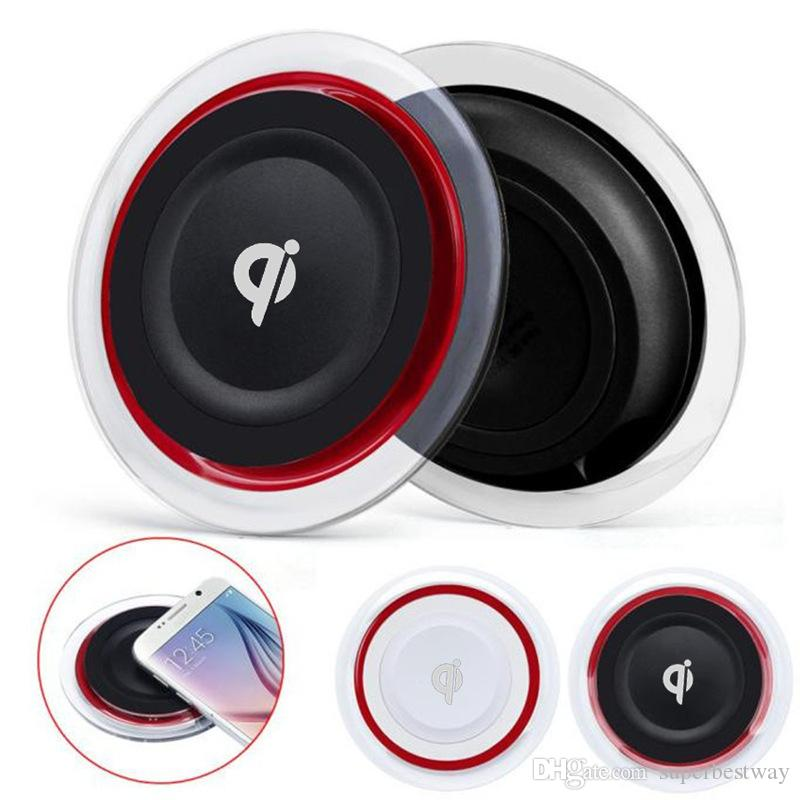 Q6 Wireless Charger Charging Pad Crystal Led light For Iphone X 8 Plus Galaxy S8 plus LG Nokia Google Smartphone With Package OTH054