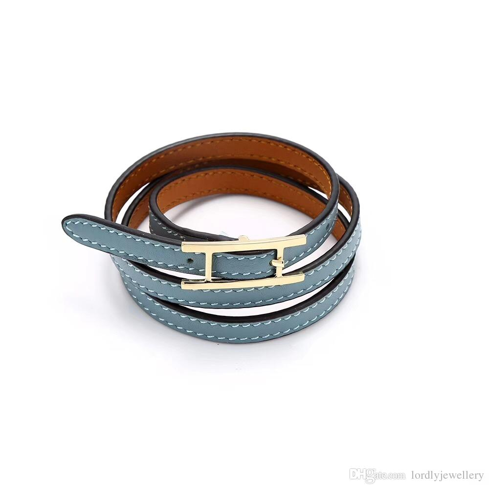 2018! Around three times with golden buckle !It has 8 leather colors . The style is for prevailing instagram.