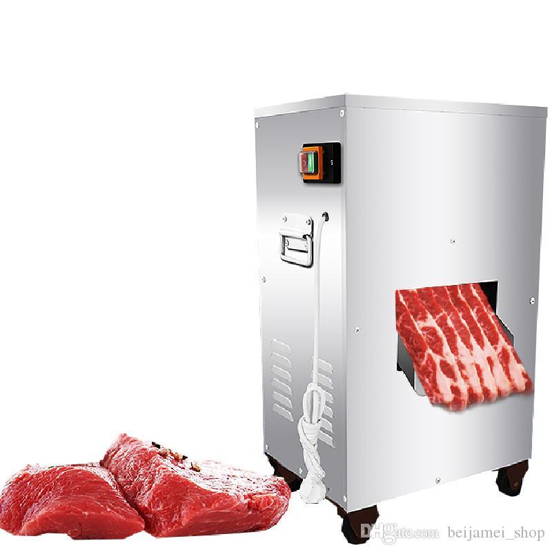 Beijamei 2018 puissant 2200W 300KG / H machine de découpe de viande commercial vertical coupe de trancheuse prix de la machine
