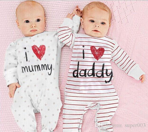 Moda yenidoğan tulum bebes bebek kız romper markalı giyim yenidoğan bebek vücut elbise bebek uzun kollu erkek bebek giysileri