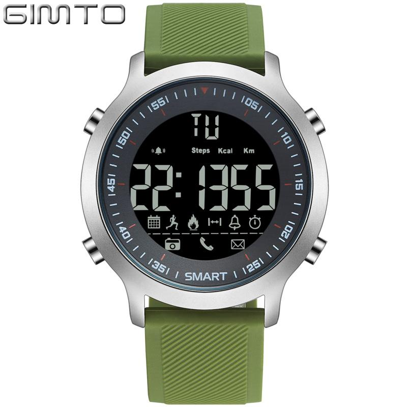 X GIMTO 2018 Cool Sport En Plein Air Smart Watch Hommes Femmes Chronomètre LED Numérique Militaire montres-bracelets électroniques Podomètre Smartwatch