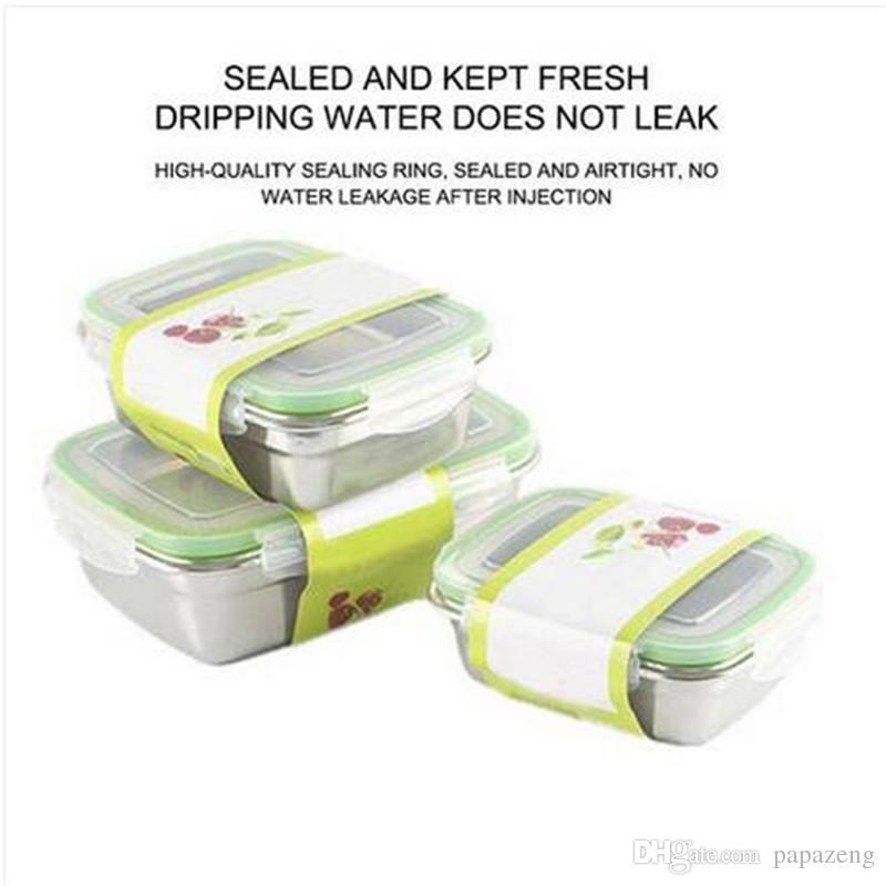 ventas calientes preciosa capa de acero inoxidable con aislamiento térmico almuerzo Bento Box School Food Container BoxesBags almuerzo