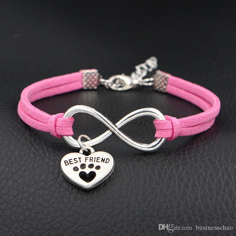 pulsera pareja SET de 2 pulseras Infinity mejor amigo re pulsera del infinito