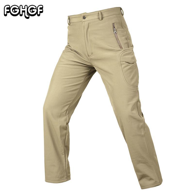 impermeable al por mayor Pantalones Militar de polar cálido invierno de los hombres a prueba de viento Tactical Pantalones Hombre Pantalones soldado de combate del Ejército de Carga