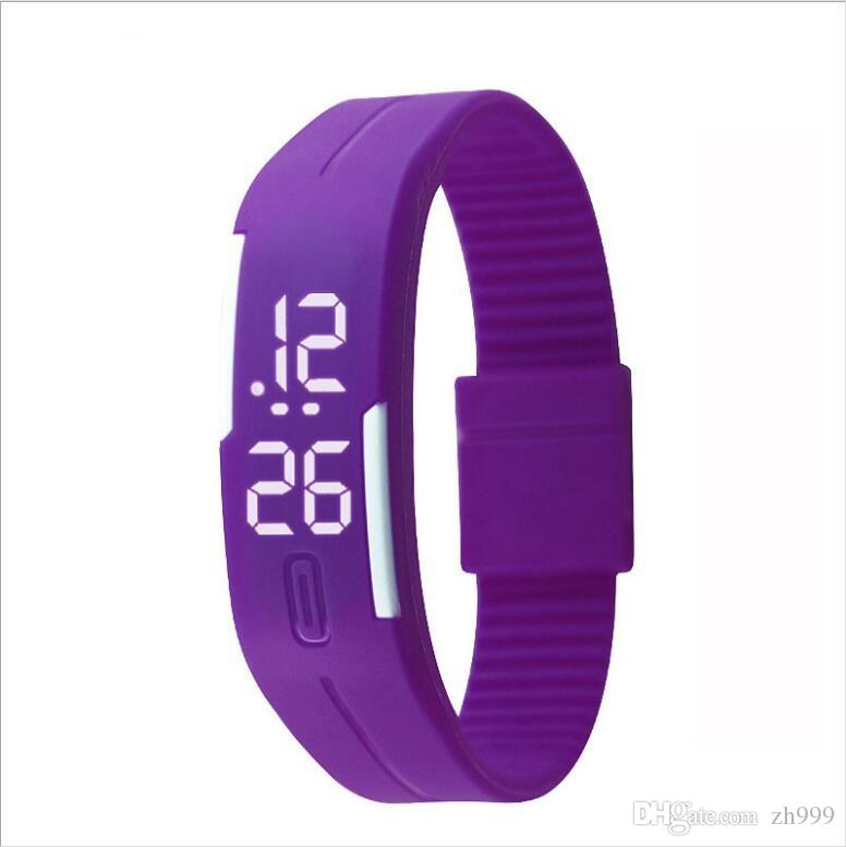 watch LED silicone white light Red light sports bracelet watch student creative children's luminous electronic gift watch