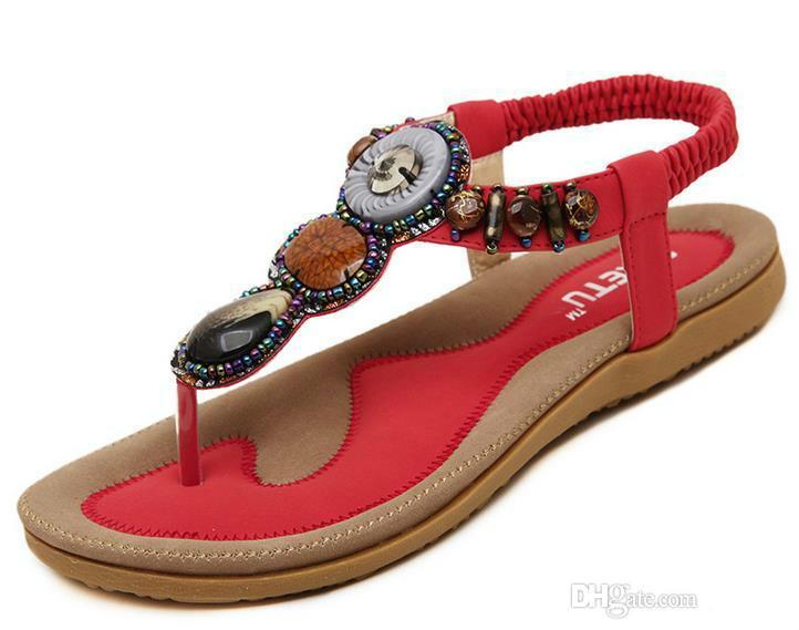 Kadın Sandalet Yaz Düz Sandalet Bayanlar Bohemia Plaj Flip Flop Ayakkabı Gladyatör Kadın Ayakkabı Sandles platformu Zapatos Mujer Sandalias