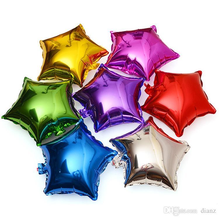 """18"""" pollici 45 centimetri Foil Stella Palloncino stella a cinque punte Foil Palloncino Baby Shower di nozze di compleanno dei bambini Decorazione per feste per bambini Palloncini"""