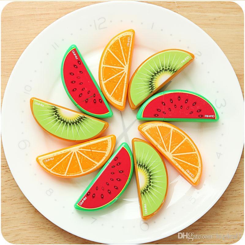 لطيف kawaii البلاستيك تصحيح الشريط الإبداعية الفاكهة مصحح الشريط مكتب اللوازم المدرسية الكورية القرطاسية مجانية 854