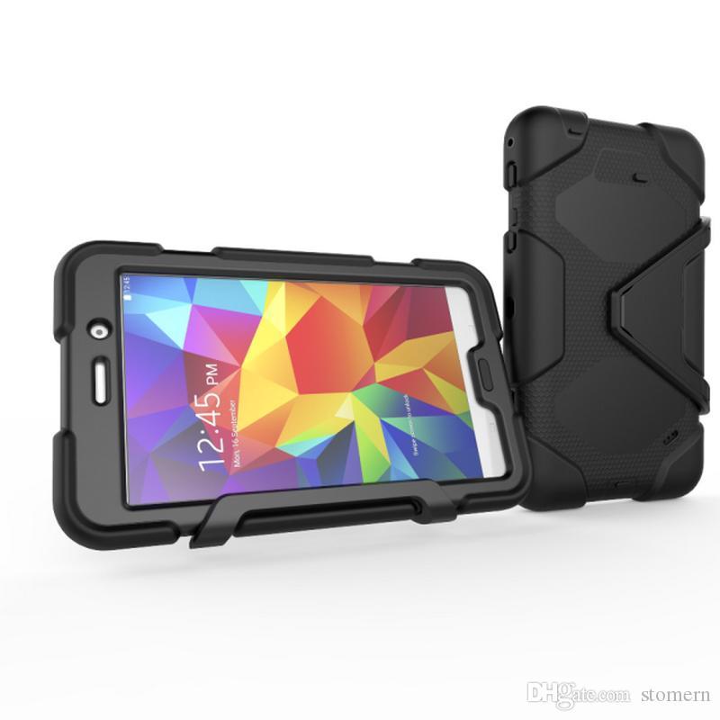 """حافظة Defender لجهاز LG Gpad 2 3 Samsung Tab 3 4 7 """"10"""" 8 """"Shockproof Robot Case حقيبة كمبيوتر لوحي شديد الصلابة Kicksatnd Cover Rugged Armor"""