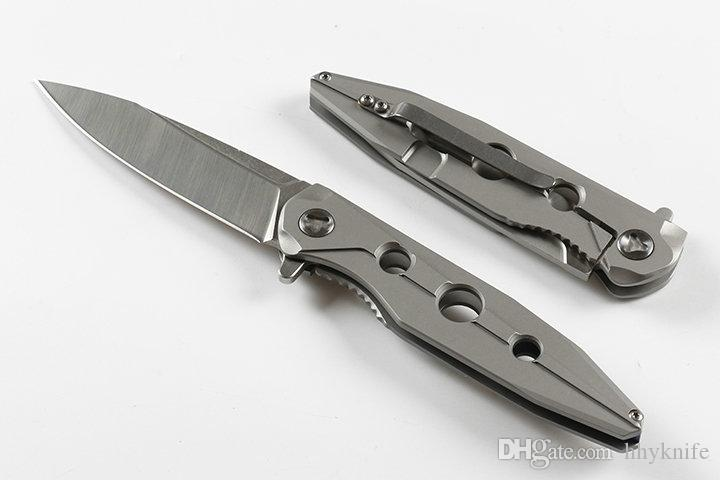 Special Offer 3 Eyes Flipper Folding Knife 9Cr18 Satin Blade CNC Steel Handle Outdoor Camping Hiking Survival Tactical Knives