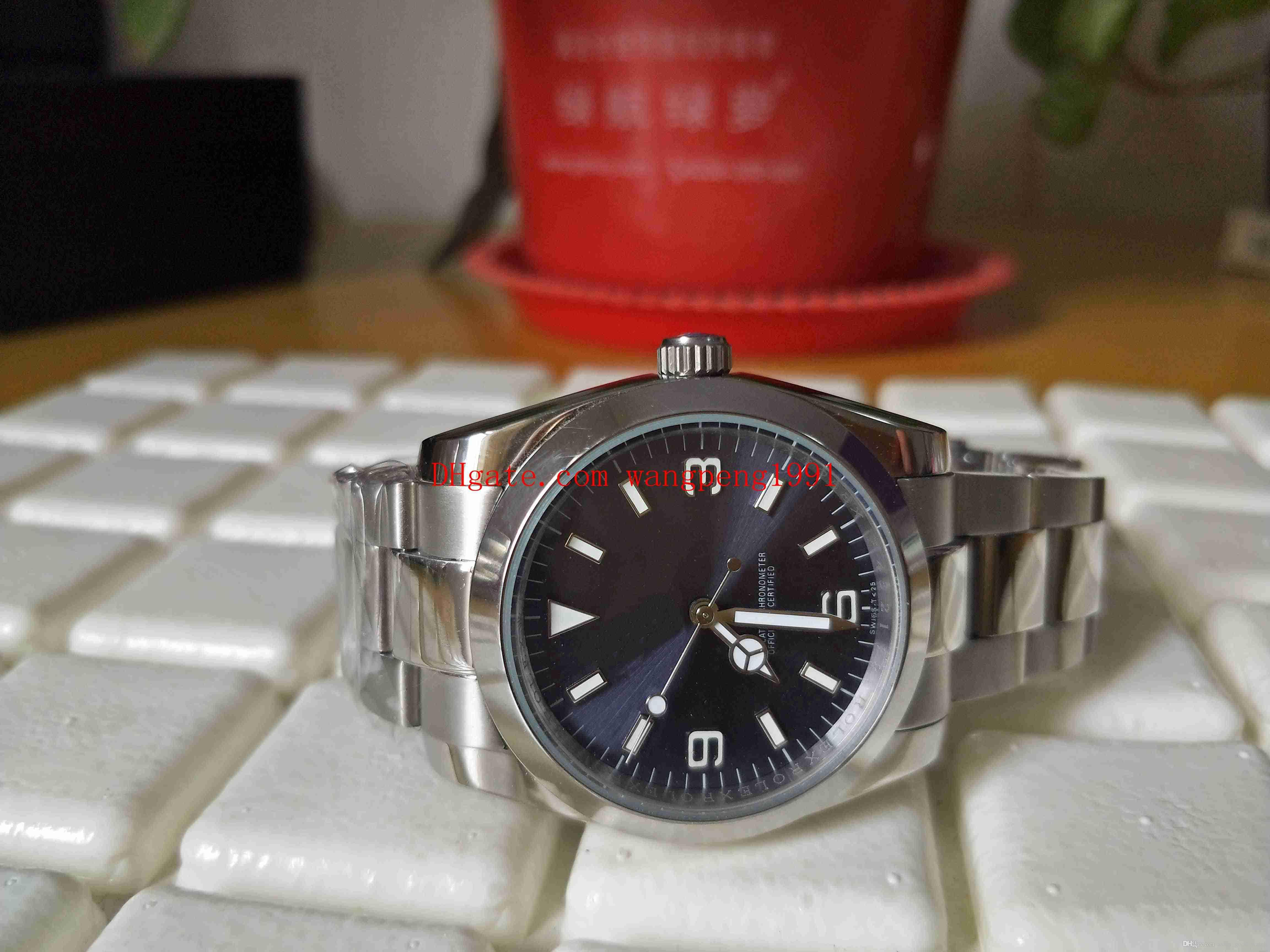 Spedizione gratuita Ladies Fashion Vankch 36mm 116000 Blue Dial Asia 2813 Movimento Sapphire Glass in acciaio inox Acciaio automatico orologio da donna orologi da donna
