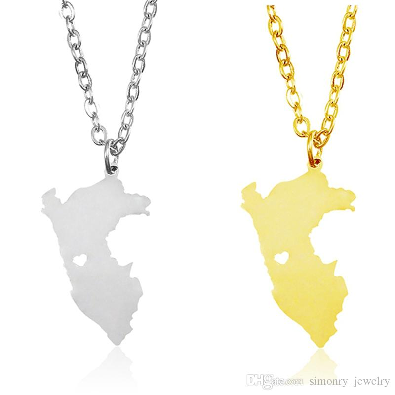 Titanium Steel V Shape Love Charm Necklace 17.5 inch 45 cm