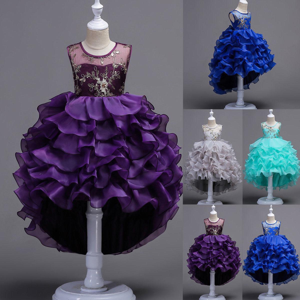 Girl Princess Dress Flower Pageant Wedding Birthday Party Bridesmaid Kid Dresses Tutu Dress