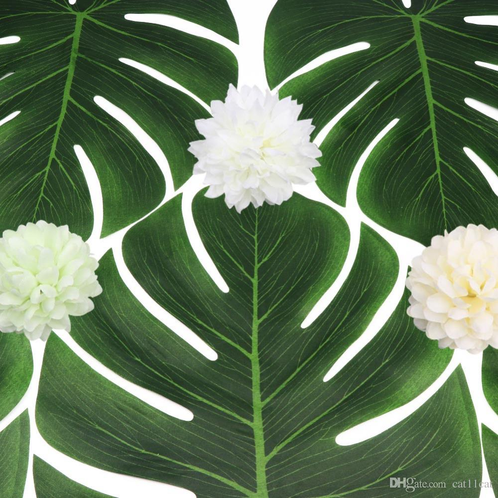 35x29cm Artificial Tropical Palm Leaves for Banquet Table Decorations Dining Table Placemats Wedding Party Decoration