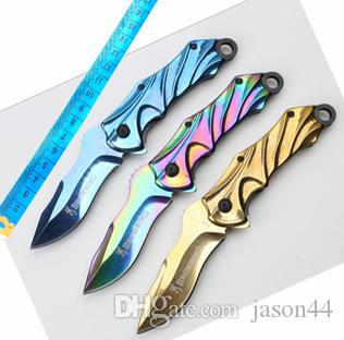 wholesaler titanium Browning high quality folding knife Camping Hunting Survival Knife Clasp EDC Tools Outdoor folding gift pocket knife