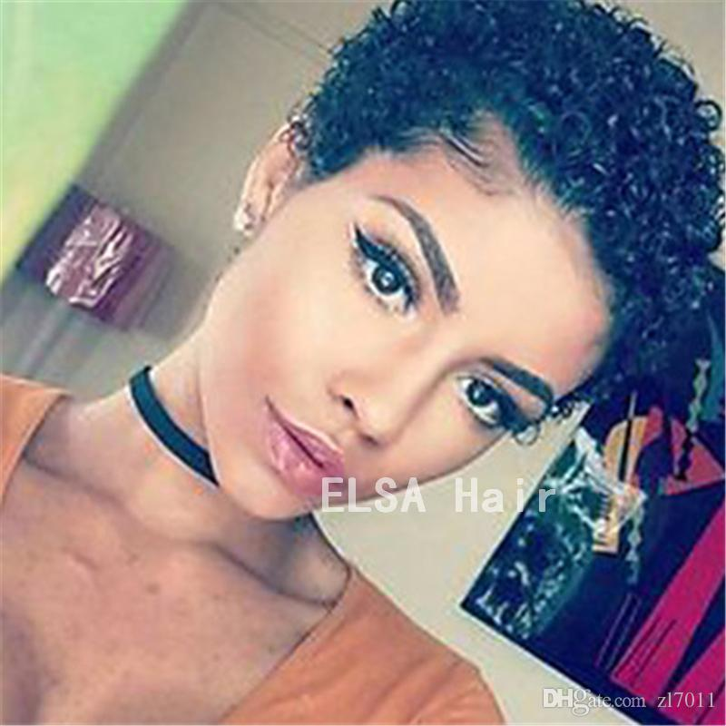 100% real natural black kinky afro curly human hair wigs side part glueless lace front virgin hair wigs with baby hair for black women cheap