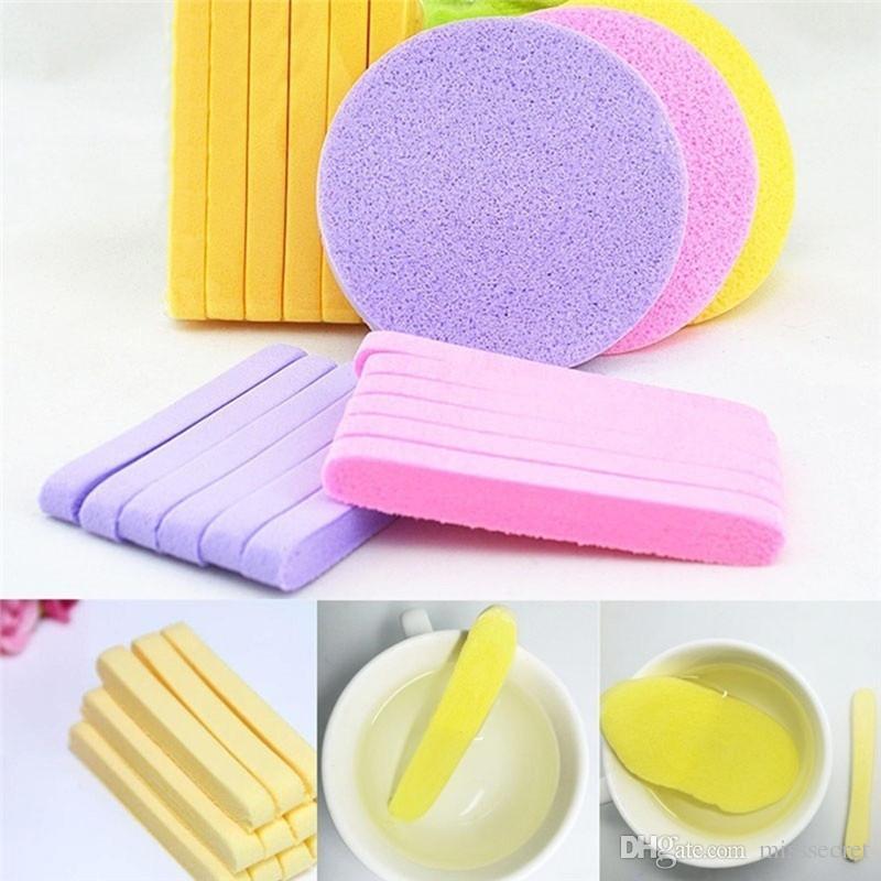 12pcs compresse d'algues magiques visage magique pad de nettoyage cosmétique bouffée de maquillage nettoyage éponge laver visage maquillage outils de fondation