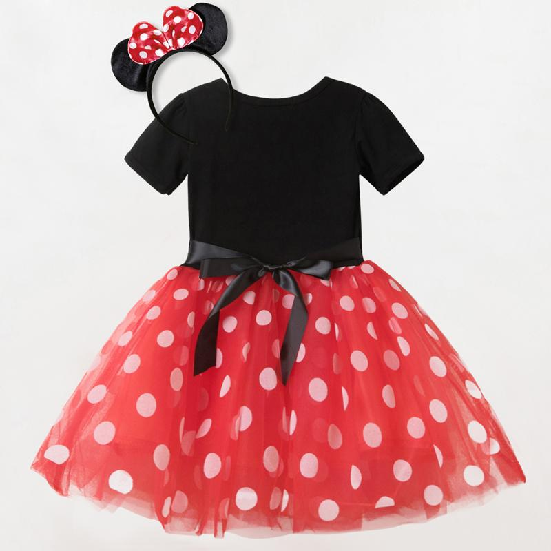 Polka Dots Little Girls Baby Dress Infant Kid Summer Party Frocks Tutu Dancing Dresses Birthday Outfits For Girl Cotton Vestidos
