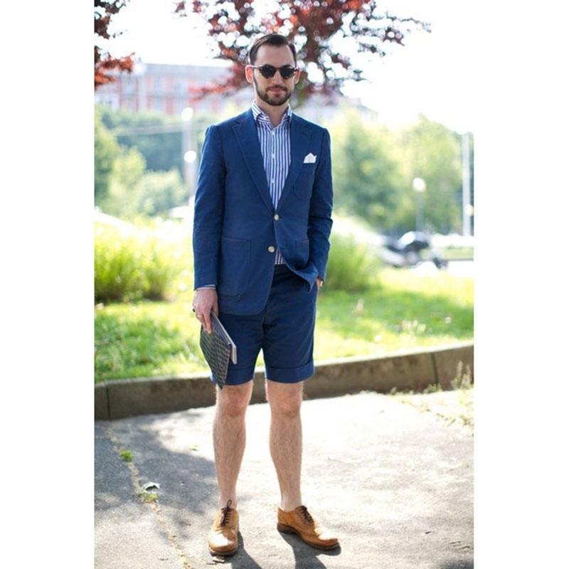 Esmoquin Slim 2 Piezas Últimos Diseños Hombre Azul Terno Trajes Verano Fit Corto Compre Los De Casuales Pantalón htQrCsd