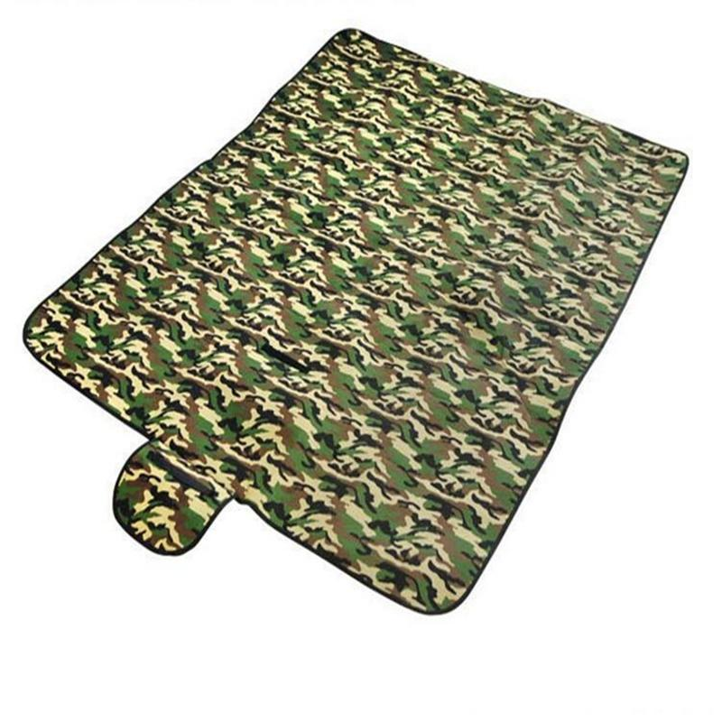 180cm*150cm sleeping pad double with bag for outdoor picnic camping waterproof camouflage cama hinchable beach mat