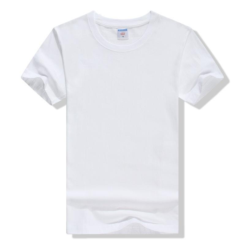 2018 Katı Renk T Shirt Mens Siyah Beyaz% 100% Pamuk T-Shirt Yaz Mavi Gri Siyah Beyaz T Shirt Erkekler Kısa Kollu Pamuk