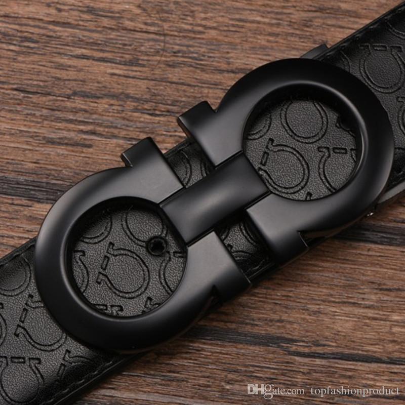 Big buckle belt mens belts men belt fashion accessories Top high quality genuine leather belts free shipping
