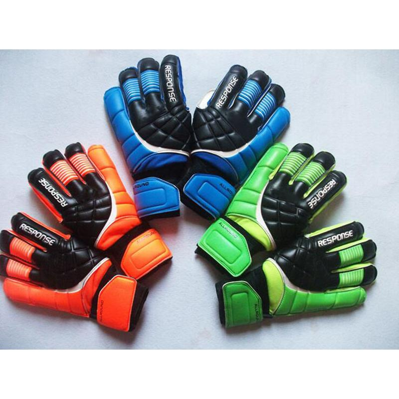 Sport 3 colors soccer brand goalkeeper gloves for men fashion professional football finger gloves men new goalkeeper glove free shipping