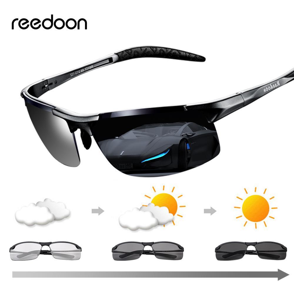 Photochromic Sunglasses Polarized Lens UV400 Aluminium Magnesium Frame Driving Goggles For Men High Quality