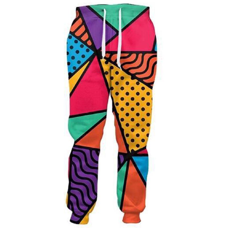 Cloudstyle 2018 Yeni Erkek 3D Pantolon Pizza 3D Baskı Gevşek Sweatpants Düz Tam Uzunlukta Orta Boy Artı Boyutu 5XL Moda Pantolon